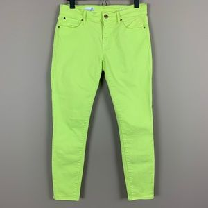 GAP 1969 Bright Yellow Skinny Jeans